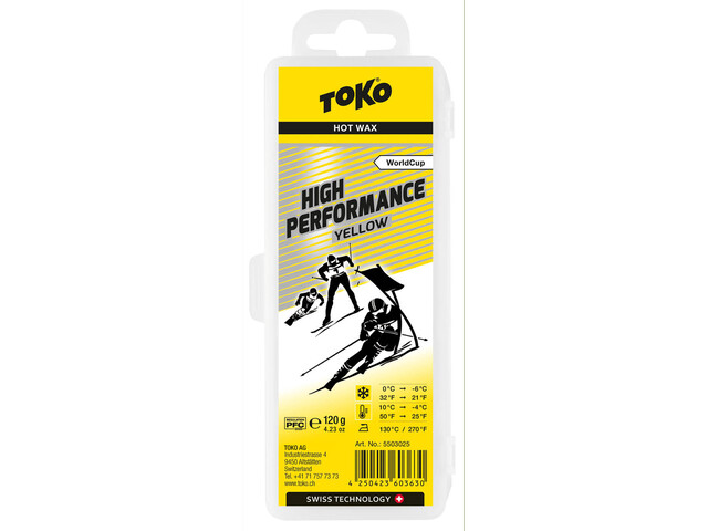 Toko High Performance Cera de Carreras Amarillo 120g